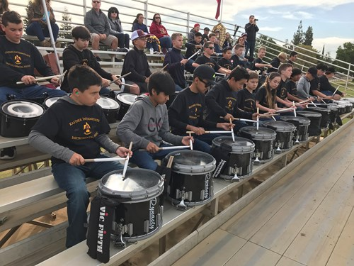 Drummers at football game